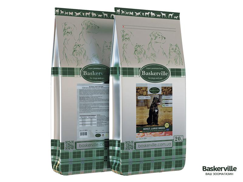 Сухой корм для собак Baskerville Adult Large Breed 20 кг