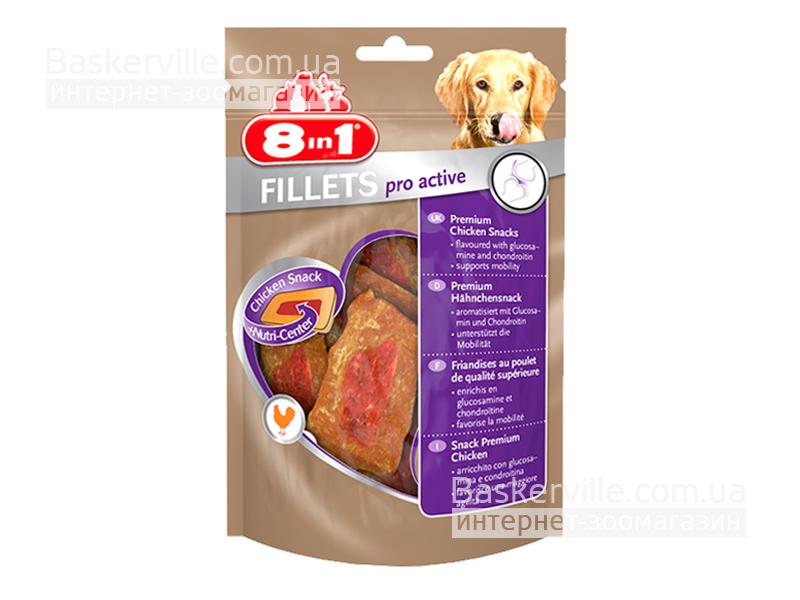 8in1 Fillets. Pro Active. Куриное филе для активности движения, 80 г