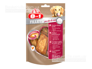 8in1 Fillets. Pro Skin & Coat. Куриное филе для кожи и шерсти, 80 г