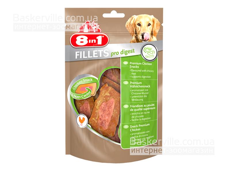 8in1 Fillets. Pro Digest. Куриное филе для улучшения пищеварения, 80 г