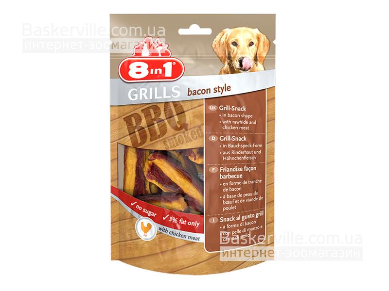 8in1 Grills. Bacon Style. Лакомство с гриль-беконом для собак, 80 г