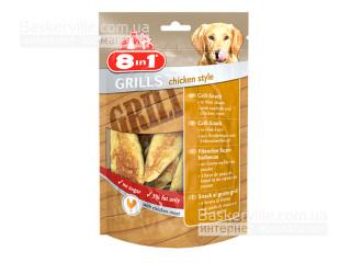 8in1 Grills. Chicken Style. Лакомство с гриль-курицей для собак, 80 г