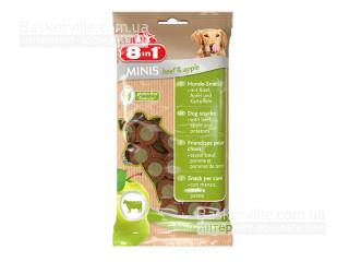 8in1 Minis. Beef & Apple. Лакомство с говядиной и яблоком для собак, 100 г