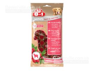 8in1 Minis. Lamb & Cranberry. Лакомство с ягненком и клюквой для собак, 100 г