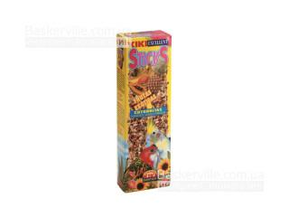KIKI Sticks колосок для средних попугаев с экзотическими фруктами (2шт. в уп.) 140 г