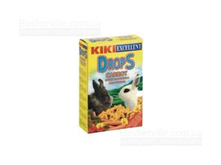 KIKI Drops Дропсы для грызунов (кроликов) с морковкой, 100 г
