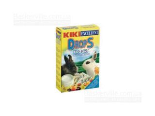 KIKI Drops дропсы для грызунов (кроликов) с йогуртом, 100 г