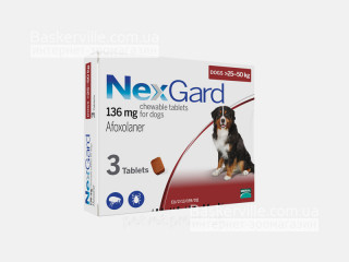 NexGard | НексГард | Таблетки от блох и клещей (25 - 50 кг)
