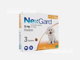 NexGard | НексГард | Таблетки от блох и клещей (2-4 кг)