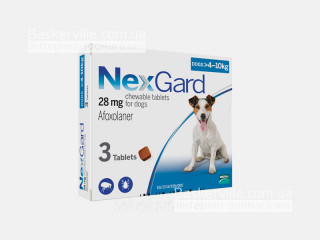 NexGard | НексГард | Таблетки от блох и клещей (4 - 10 кг)