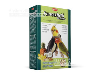 Padovan. Parrocchetti GrandMix. Комплексный корм для средних попугаев, 400 г