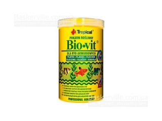 TROPICAL BIO-VIT 250мл/50г  (хлопья) растит.корм для всех видов рыб