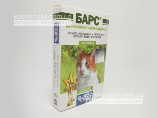 Барс капли противопаразитарные для кошек