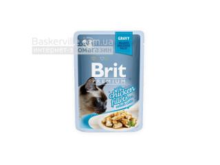 Brit. Premium. Gravy. For Adult. Высококачественный влажный корм для взрослых котов. Куриное филе в соусе, 85 г