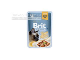 Brit. Premium. Gravy. For Adult. Высококачественный влажный корм для взрослых котов. Филе тунца в соусе, 85 г