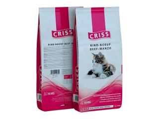 Сухой корм для взрослых и пожилых кошек Criss (Крисс) - Говядина, 10 кг