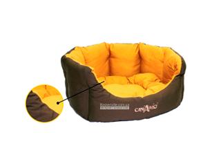 Croci Pet Bad Brown Orange. Лежак для домашних животных мелких и средних размеров