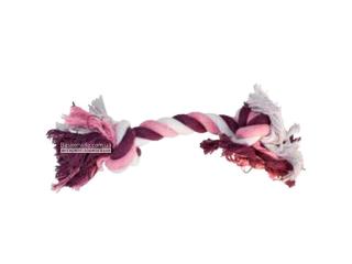 CaniAMici. Канат с двумя узлами для собак, фиолетовый, 30 см