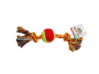 CaniAMici. Канат с узлами и теннисным мячом, 30,5 см