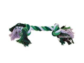 CaniAMici. Канат с двумя узлами для собак, зелёный, 35,5 см