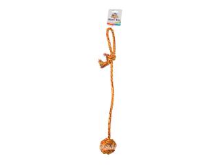 CaniAMici. Узловой мяч с длинной ручкой для собак, 56 см