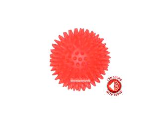 CaniAMici. Игрушка с сигналом для собак «Красный мяч-ёж»