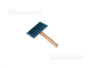 Croci Пуходёрка с  деревянной ручкой мини 6х4,5см