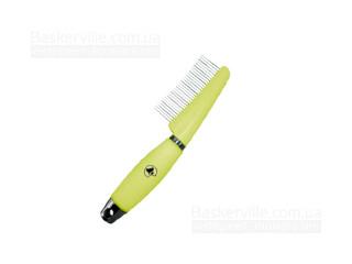 Croci. Расческа для длинной шерсти с силиконовой ручкой 7,7x17,3 см