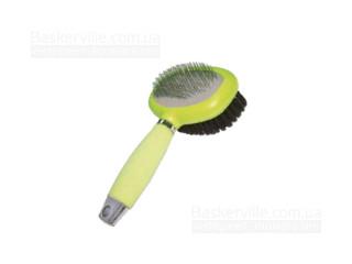 Croci. Пуходёрка-щётка 2 в 1 c силиконовой ручкой 13х14,5 см