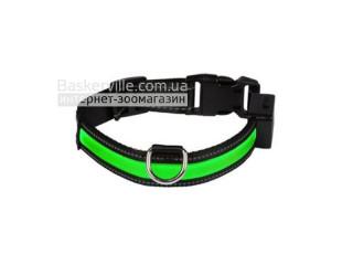 Croci. USB Collar. Нейлоновый ошейник со светодиодной полоской