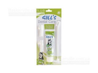GILL'S. Набор для ухода за полостью рта. Зубная паста и щётки, 3 шт.