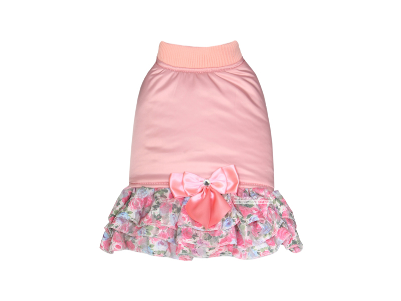 Dobaz. Chante. Платье с бантом для собак. Розовый, S