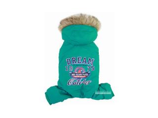 Dobaz. Dream Catcher. Зимний комбинезон с капюшоном для собак. Изумруд, XL