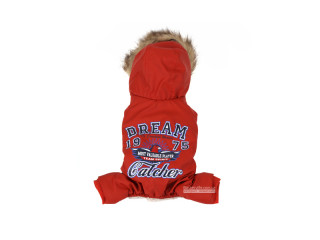 Dobaz. Dream Catcher. Зимний комбинезон с капюшоном для собак. Апельсин, XL