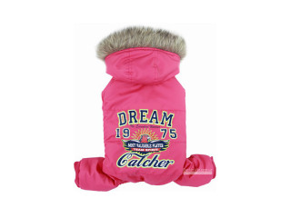 Dobaz. Dream Catcher. Зимний комбинезон с капюшоном для собак. Малина, XL