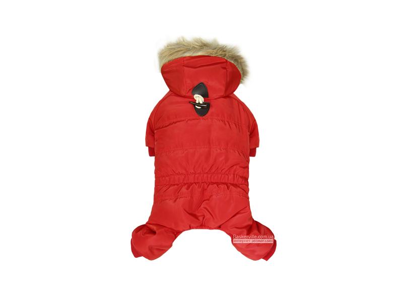 Dobaz. Neo. Теплый комбинезон с капюшоном для собак. Красный, S