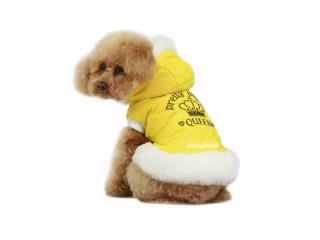 Dobaz. Pretty Puppy. Теплый комбинезон c воротником для собак. Лимон, XL