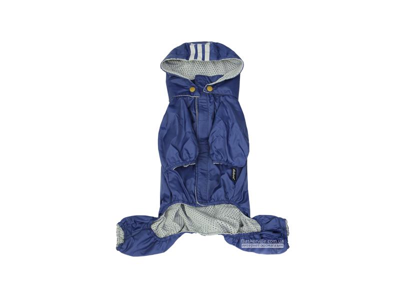 Dobaz. Rainbow. Куртка-дождевик с капюшоном для собак. Синий