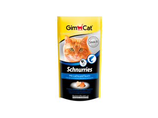 GimСat Schnurries. Лакомство с лососем для котов, 40 г