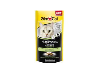 GimСat Nutri Pockets Sensitive. Витамины для пищеварительной системы котов, 50 г