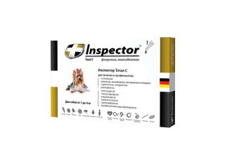 Inspector. Капли от внешних и внутренних паразитов для собак весом от 1 до 4 кг