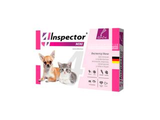 Inspector Mini. Капли от внешних и внутренних паразитов для котов и собак мелких пород весом от 0,5 до 2 кг