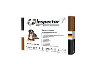Inspector. Капли от внешних и внутренних паразитов для собак, от 40 до 60 кг