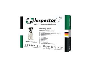 Inspector. Капли от внешних и внутренних паразитов для собак, от 4 до 10 кг