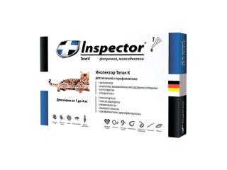 Inspector Total K. Капли от внутренних и внешних паразитов  для кошек весом от 1 до 4 кг