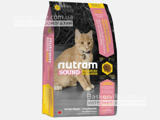 S1 Nutram Sound Balanced Wellness Natural Kitten Food Сухой корм для котят