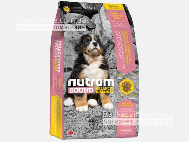 S3 Nutram Sound Balanced Wellness Natural Large Breed Puppy Сухой корм для щенков крупных пород