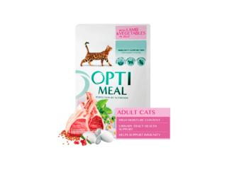 Optimeal. Консервированный корм для взрослых котов с ягнёнком в овощном желе, 85 г