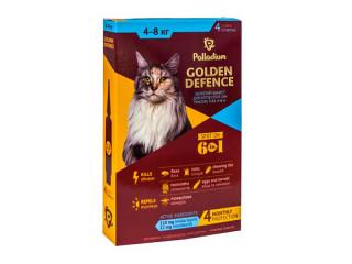 Капли от паразитов  Golden Defence для кошек весом от 4 до 8 кг