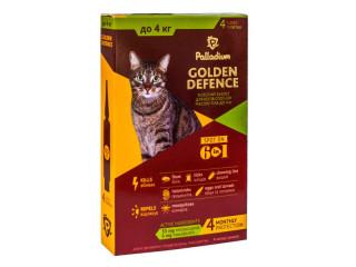 Капли от паразитов  Golden Defence для кошек весом до 4кг
